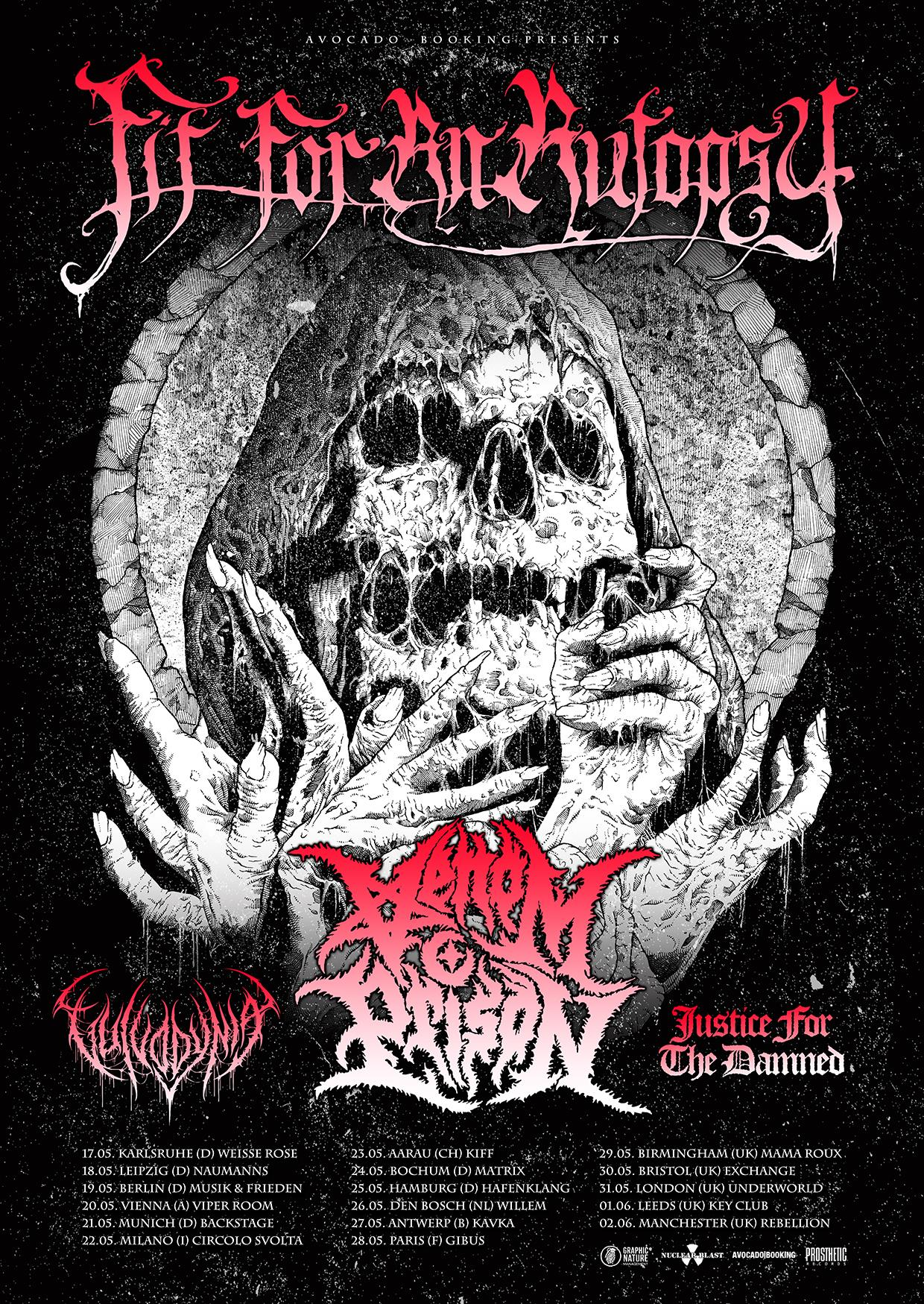 Fit For An Autopsy - European Tour 2019