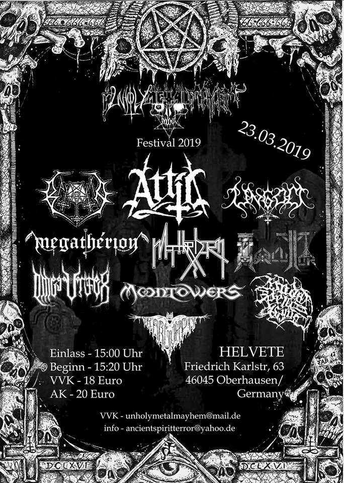 Unholy Metal Mayhem 2019