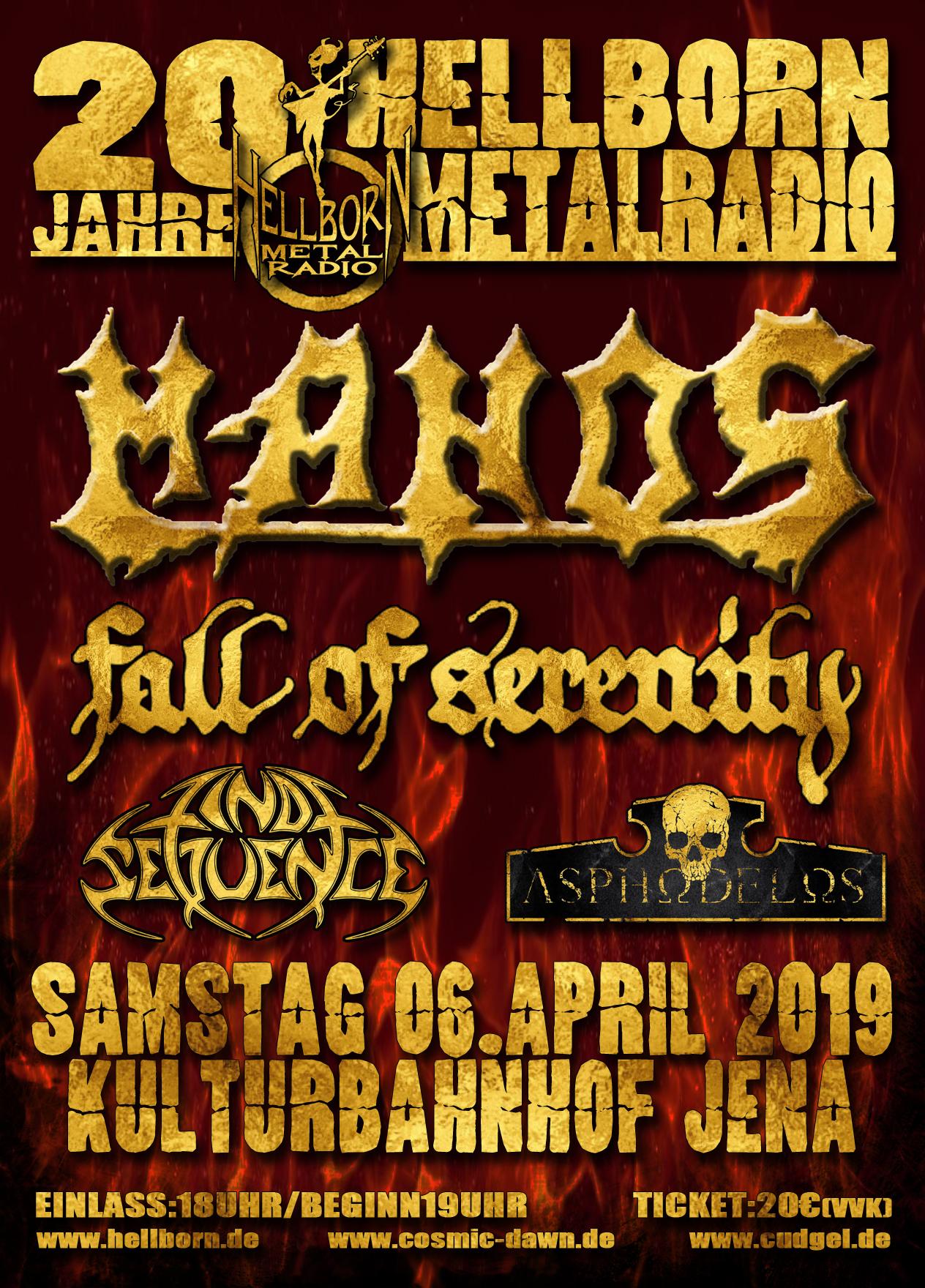Das Plakat zur Jubiläumssause von Hellborn-Metalradio