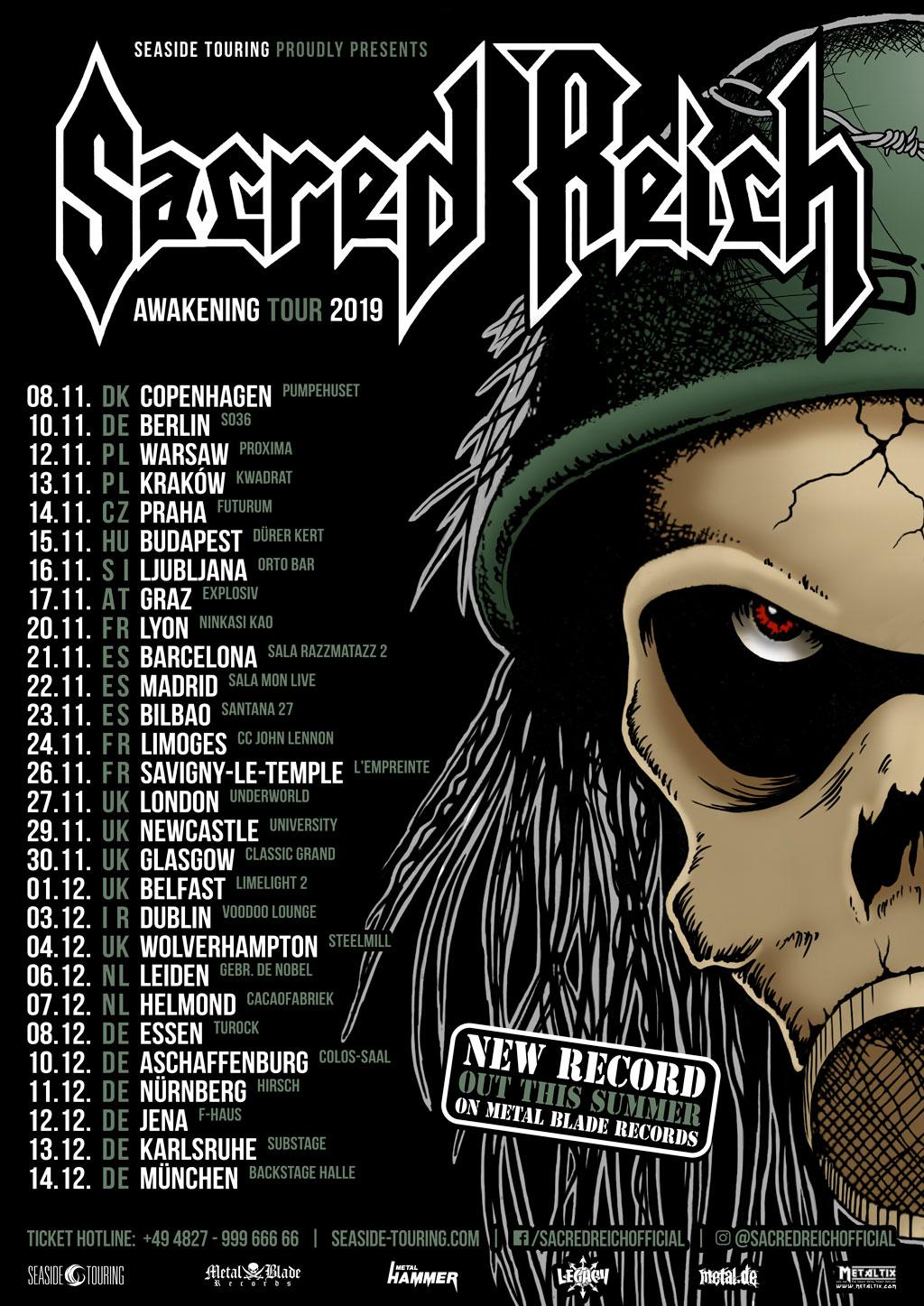 Sacred Reich Awakening Tour 2019