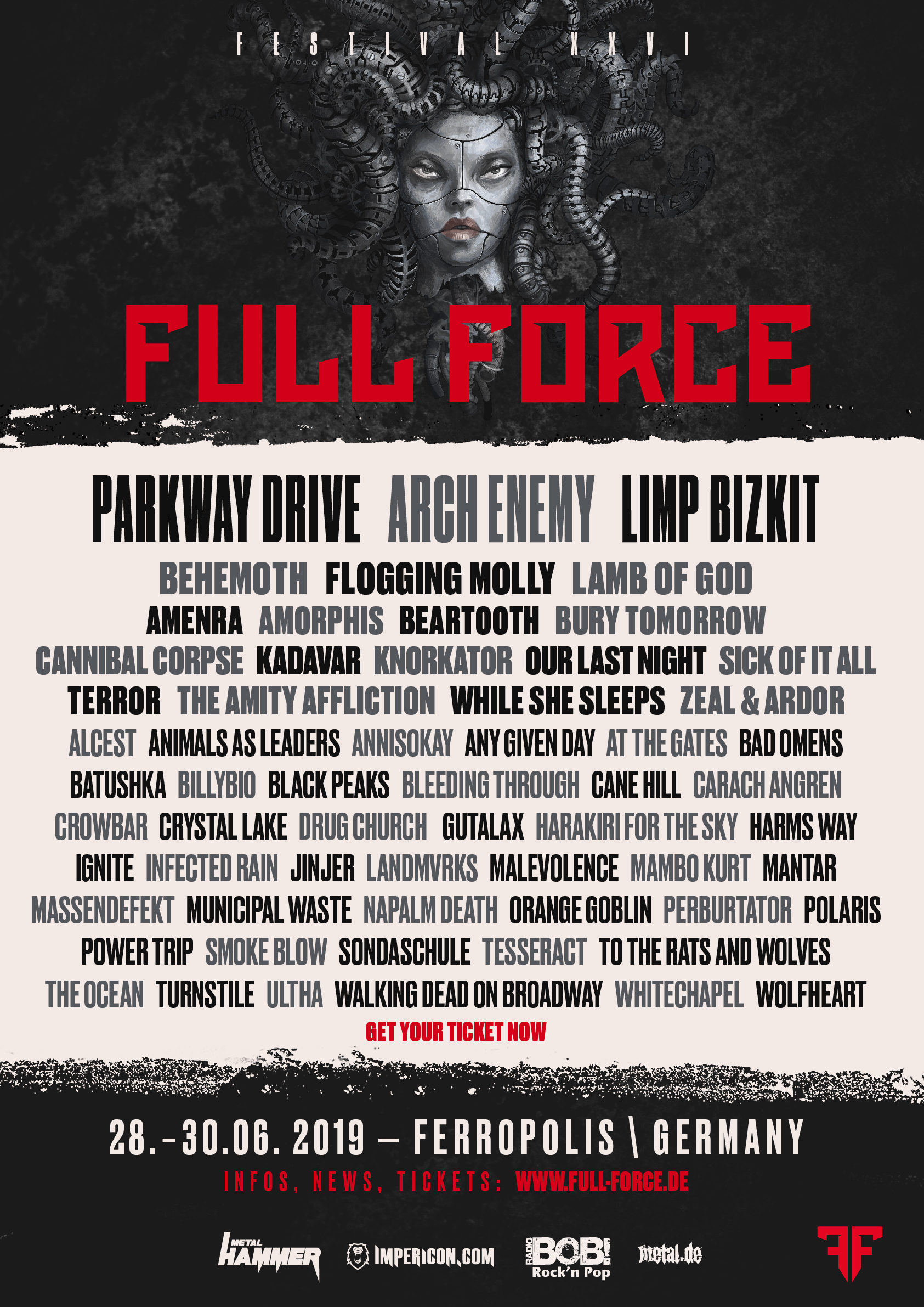Flyer Full Force 2019 finales Line-Up