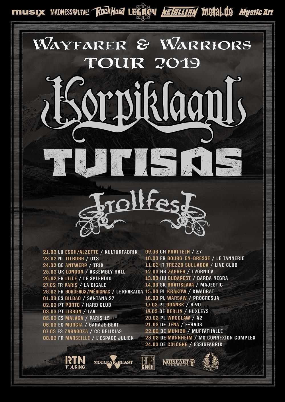 Bild Korpiklaani und Turisas Tour 2019 Poster