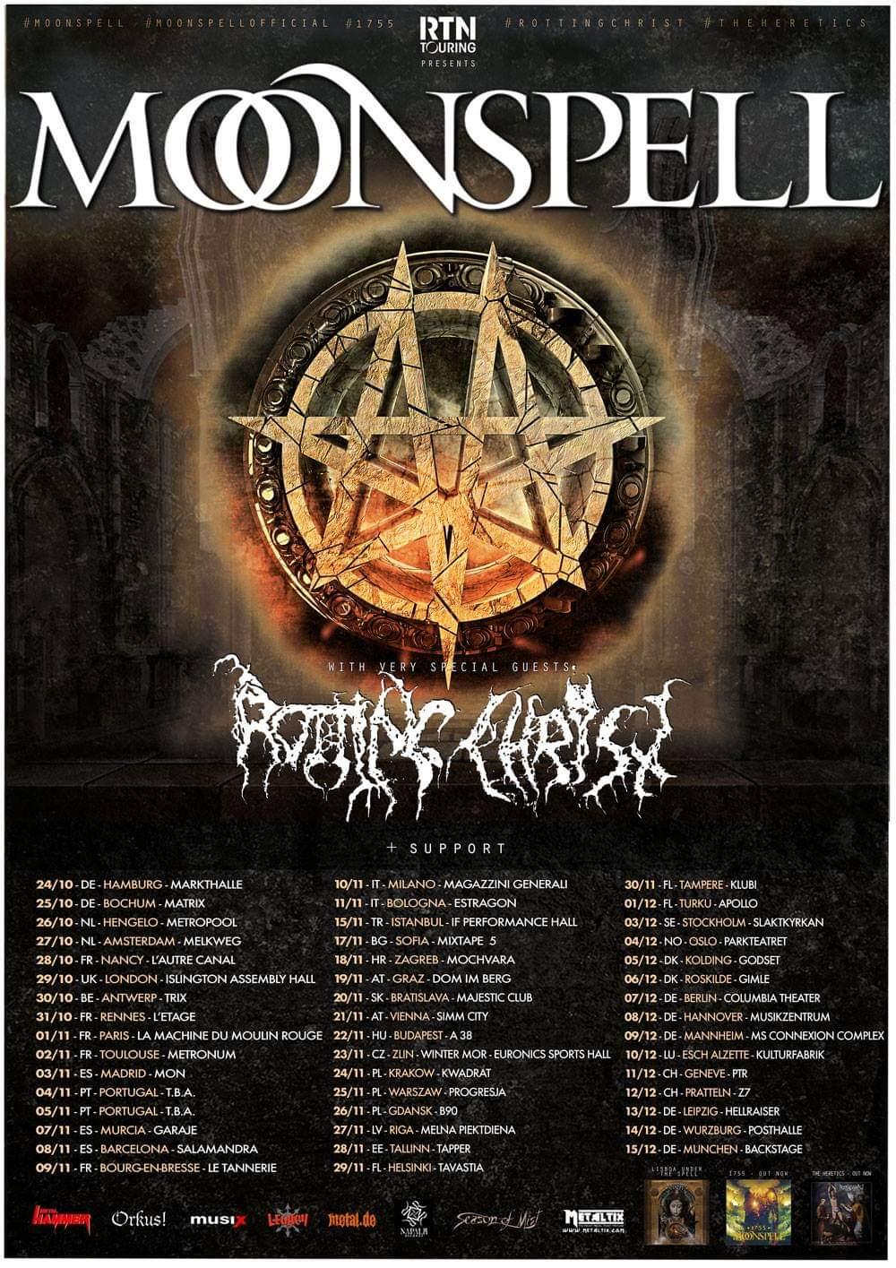 Moonspell Europa Tour 2019