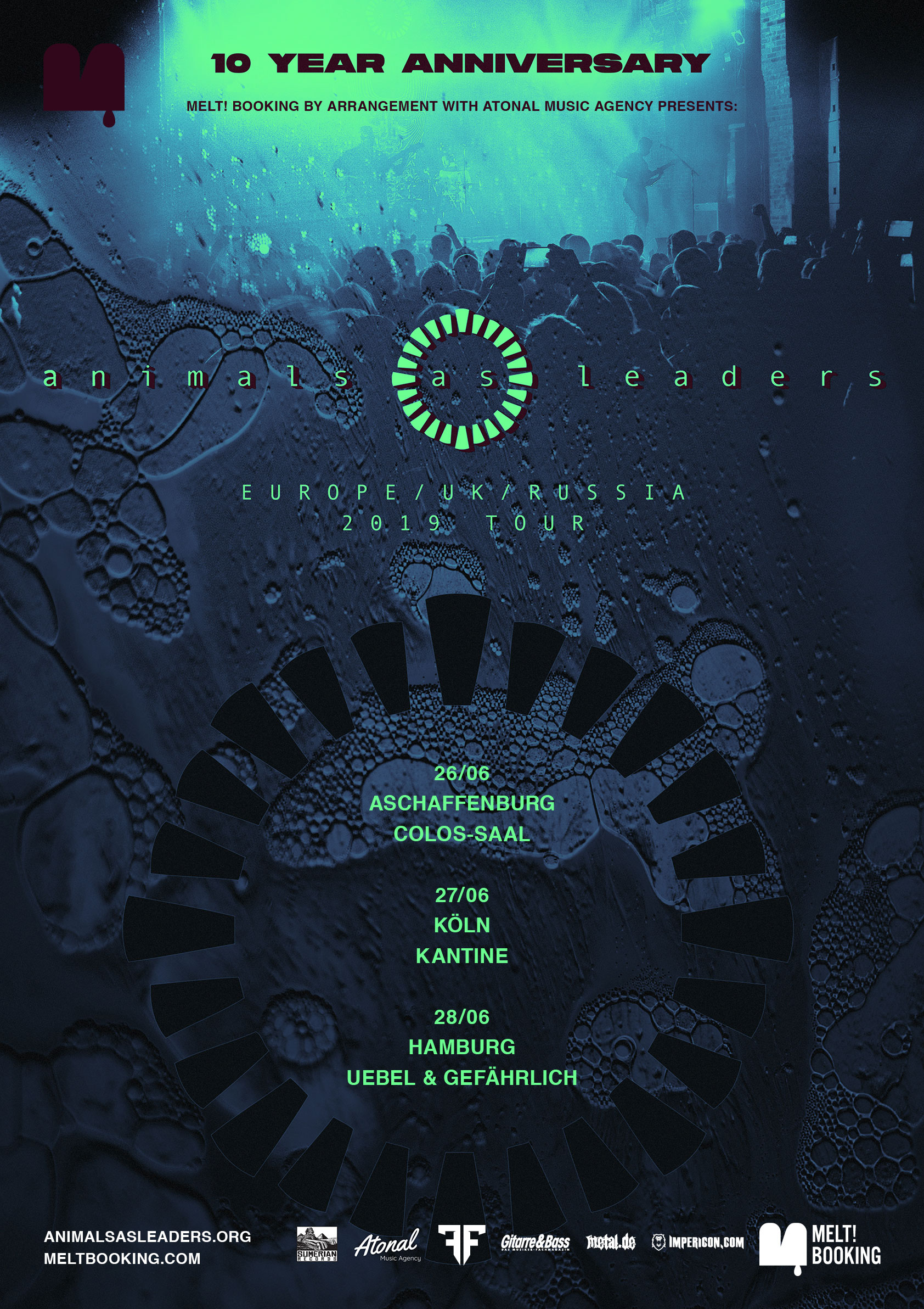 Animals As Leaders 2019 10 Year Anniversary Tour