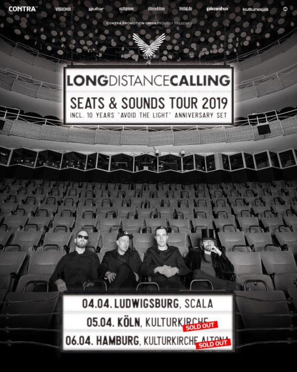 Tourplakat Long Distance Calling - Seats and Sounds Soldout