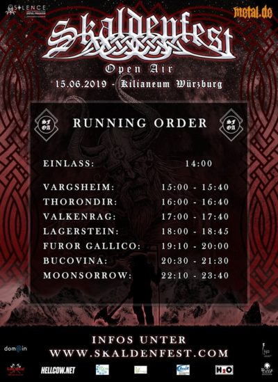 Skaldenfest Running Order