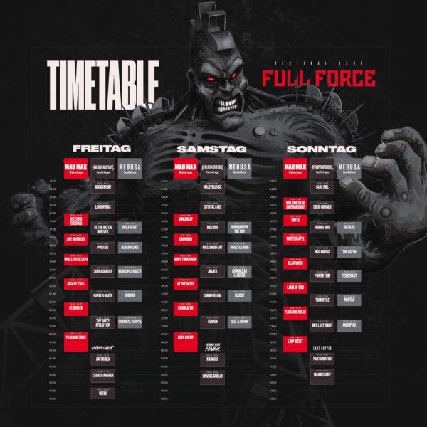 Full Force 2019 Running Order