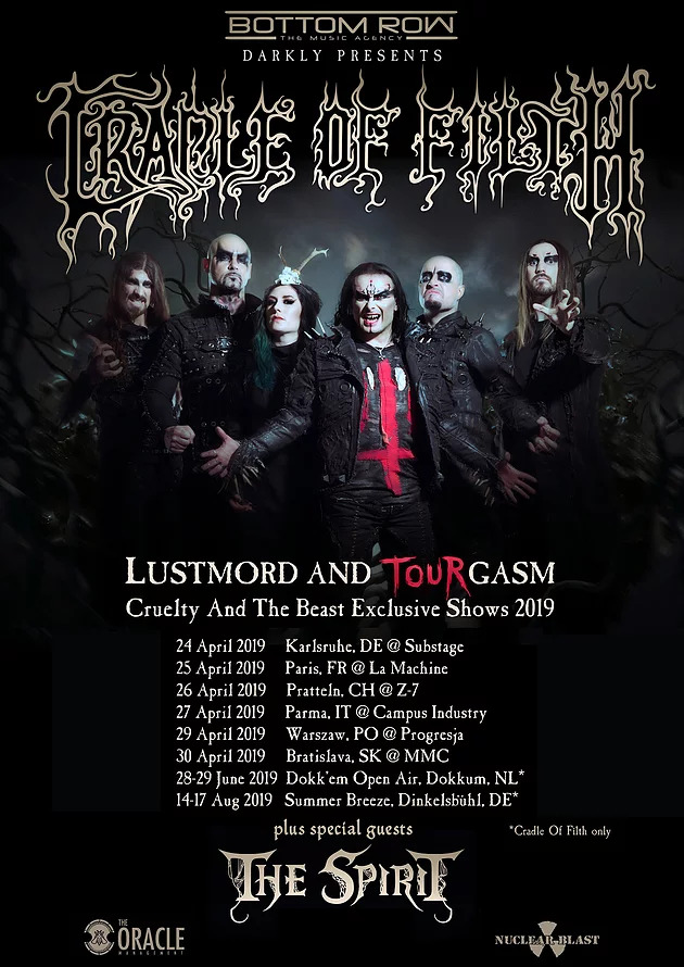 Bild: Cradle Of Filth Tour 2019 Flyer