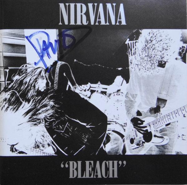 Nirvana - CD Album Bleach signiert von Dave Grohl