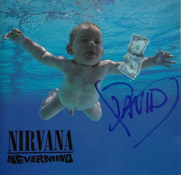 Nirvana - CD Album Nevermind signiert von Dave Grohl