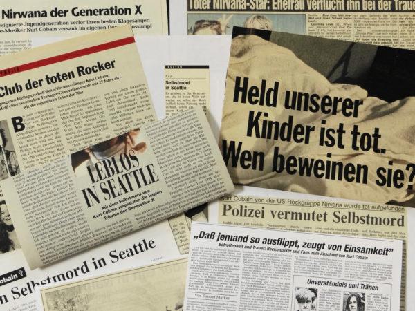 Presseberichte zum Tod von Kurt Cobain