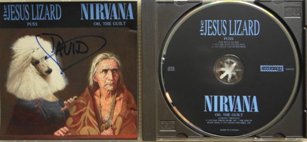 Nirvana - Von Dave Grohl signierte offizielle Split Single VÖ 15.02.1993 Label Touch and Go Records