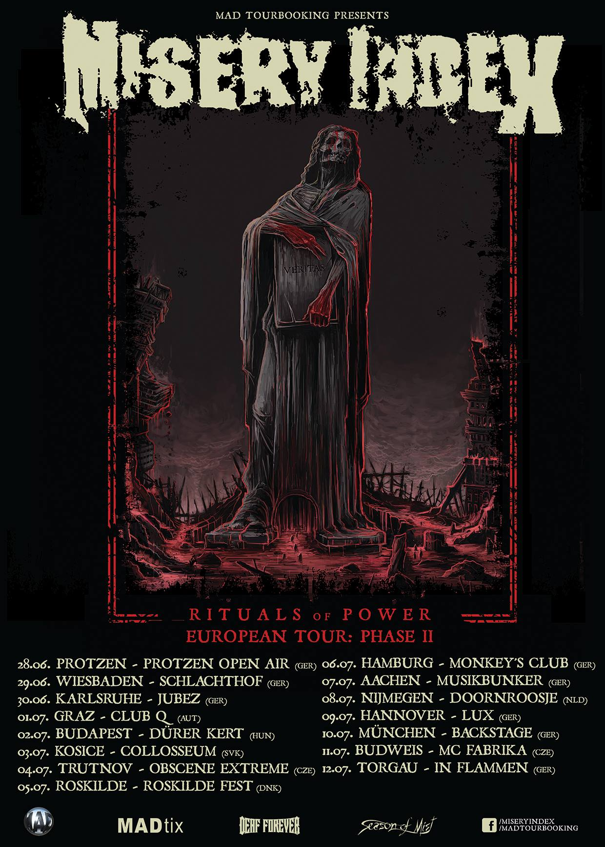 Misery Index - Rituals of Power European Tour: Phase II
