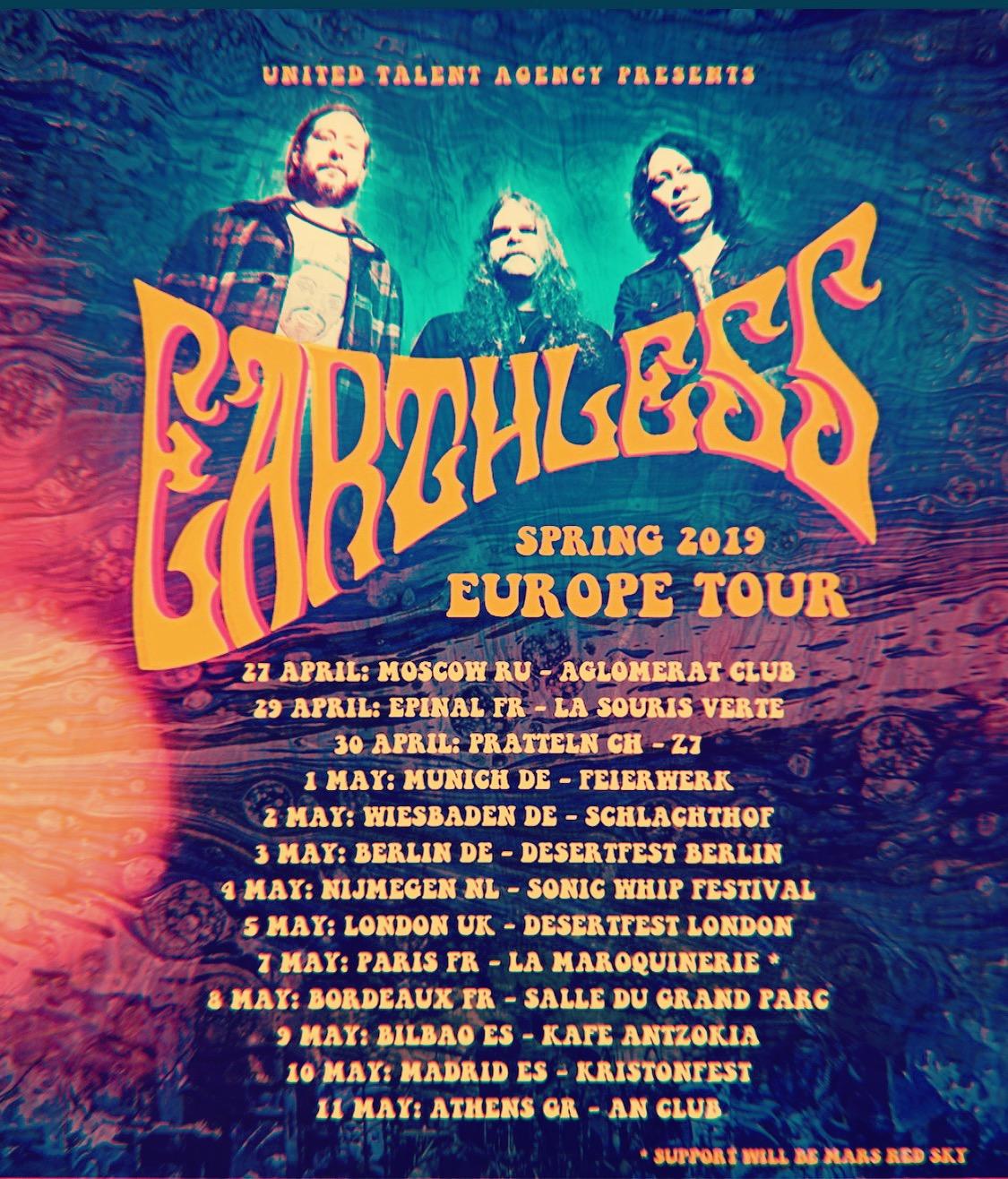 Earthless – European Spring Tour 2019
