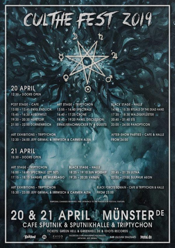 Culthe Fest 2019 - Running Order