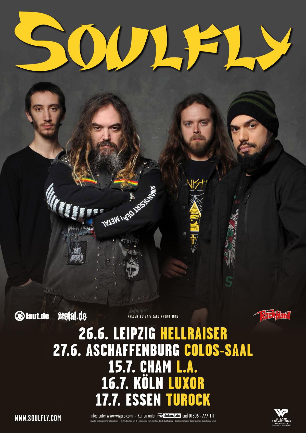 Soulfly Deutschland Tour 2019