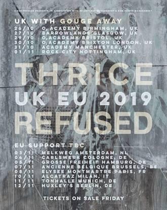Thrice & Refused Tourplakat