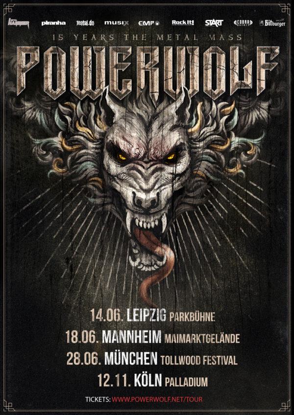 Powerwolf Tourplakat