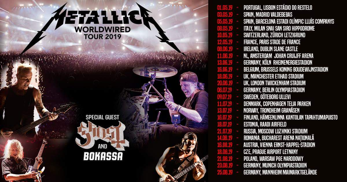Flyer: Metallica Tour 2019