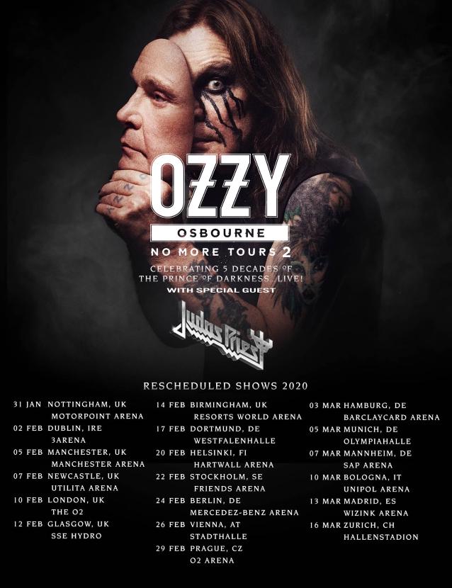 Bild: Ozzy Osbourne Tour 2020 Flyer