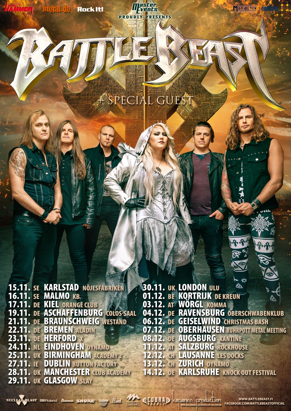 Battle Beast Tourposter 2019