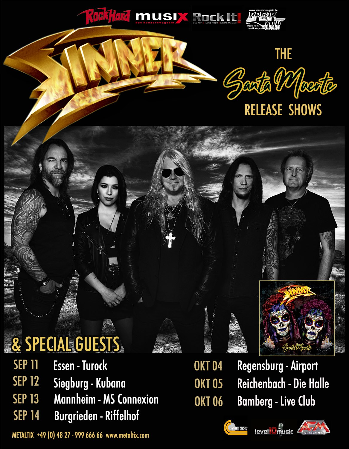 Sinner Tourplakat