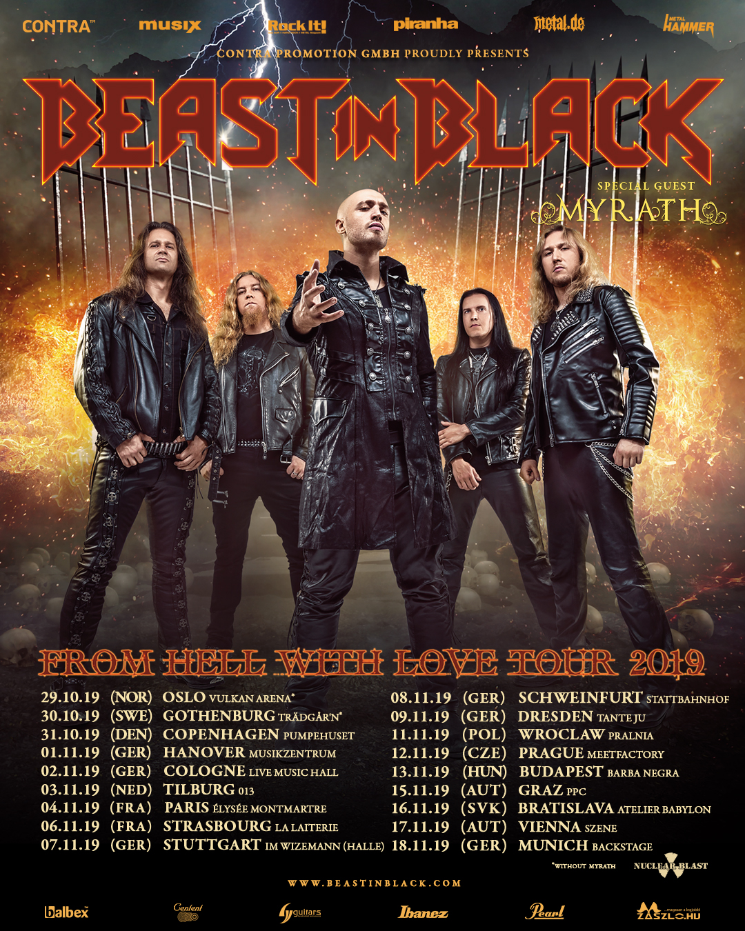 "Beast In Black - ""From Hell With Love"" European Tour Part II 2019"