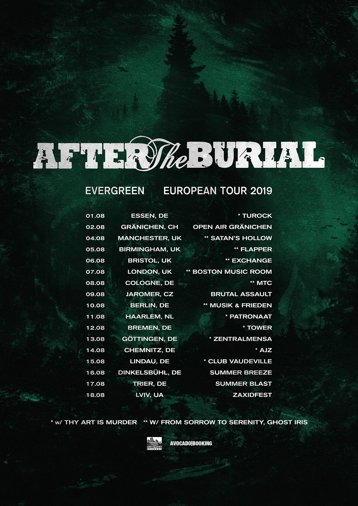 After The Burial - Evergreen European Tour 2019