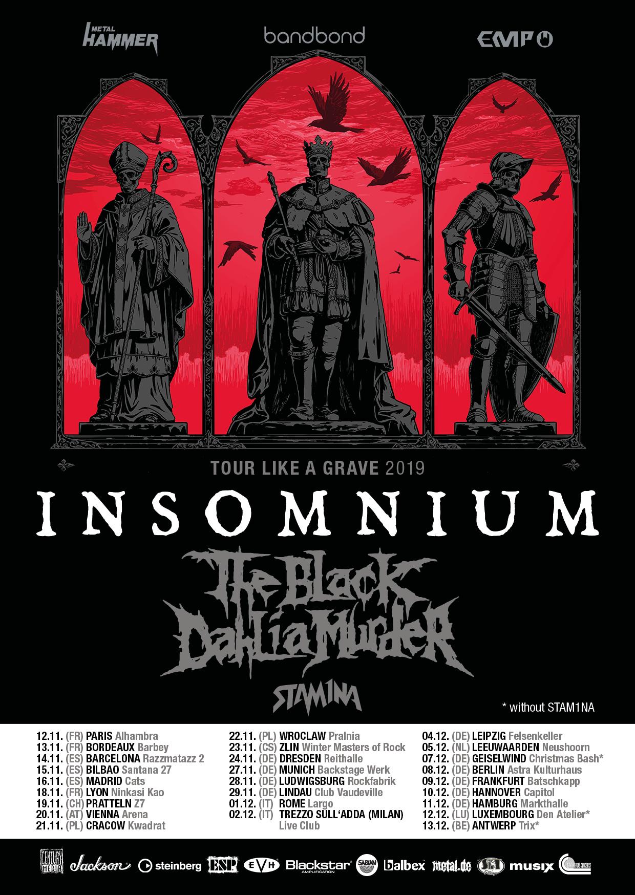 Insomnium Tour Like A Grave 2019
