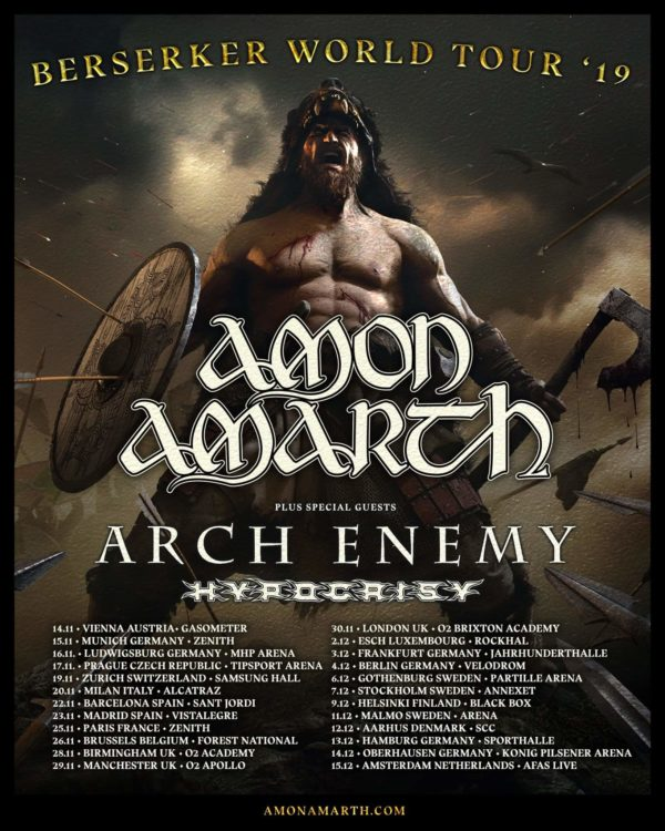 Amon Amarth - Berserker Tour 2019