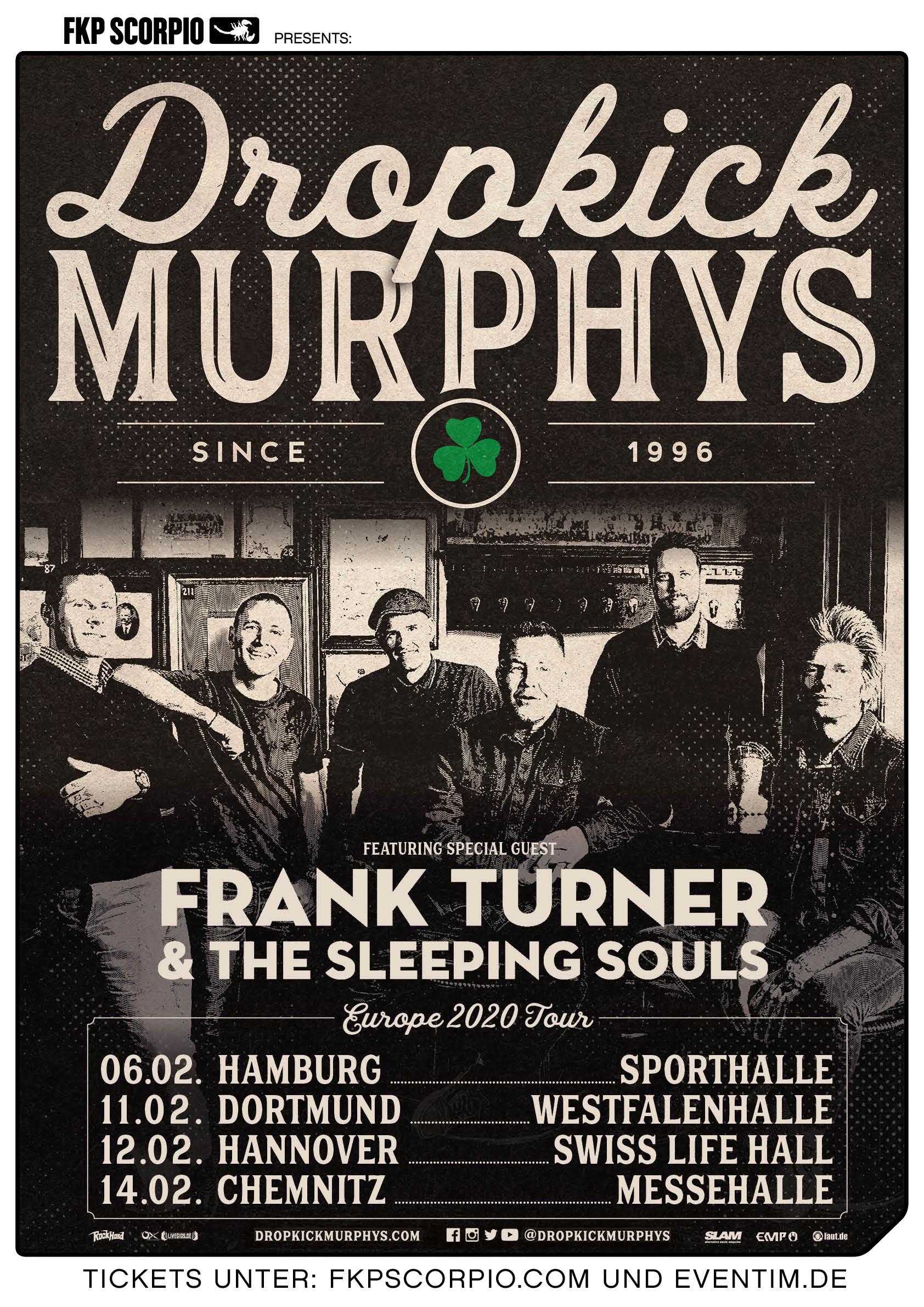 Dropkick Murphys Tour 2020 Poster