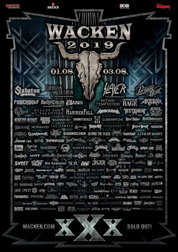 Flyer Wacken Open Air 2019