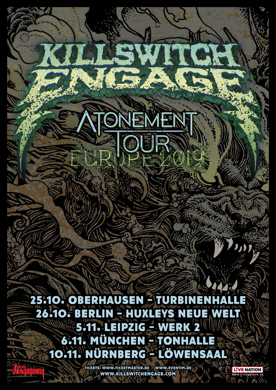 Flyer von Killswitch Engage - Atonement Tour 2019