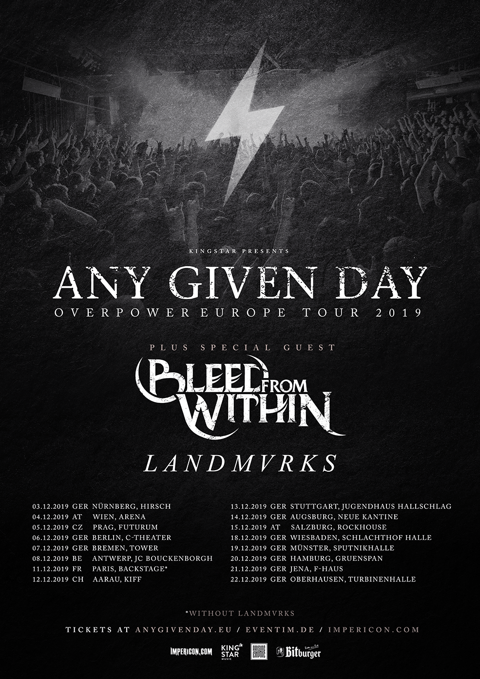 Any Given Day - Overpower Europe Tour 2019