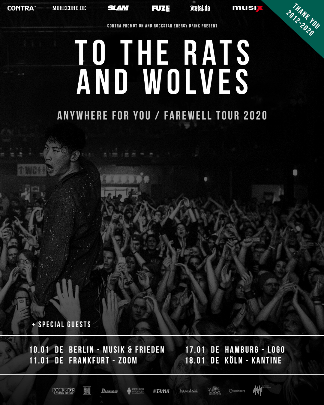To The Rats And Wolves Farewell Tour 2020
