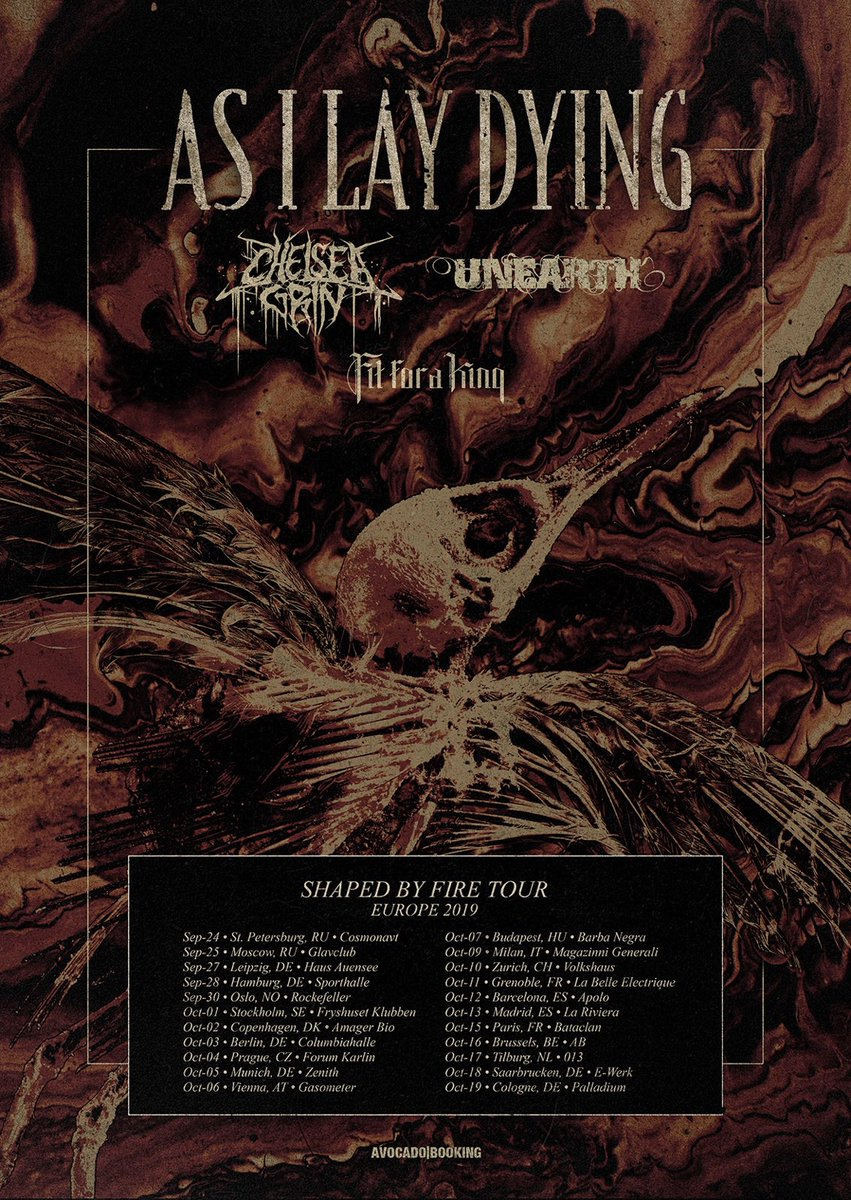 As I Lay Dying – Shaped By Fire Tour 2019