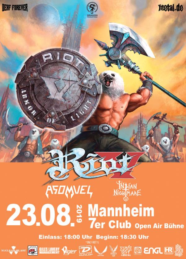 Riot V - Tourposter Mannheim