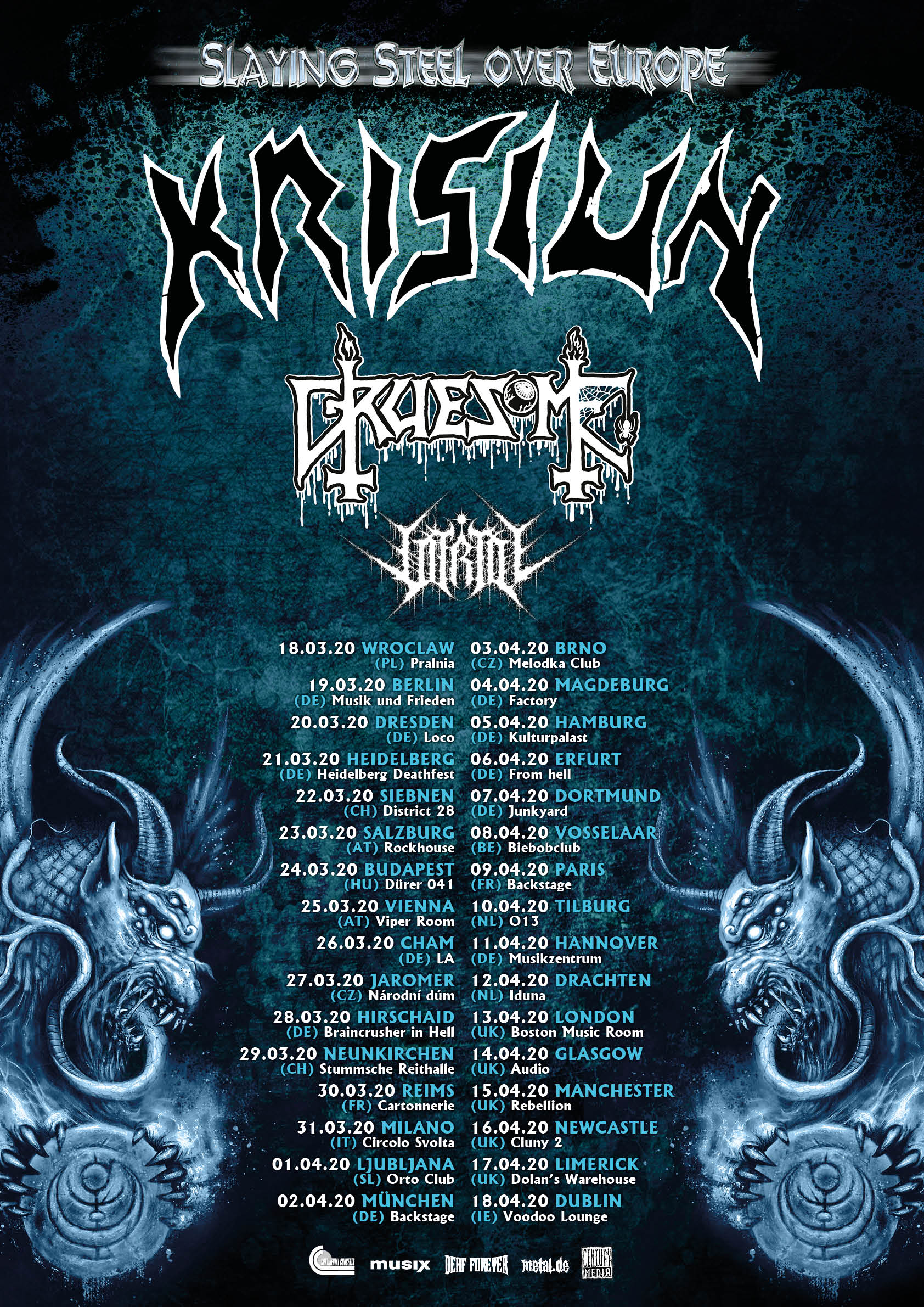 Krisiun Slaying Steel Over Europe 2020