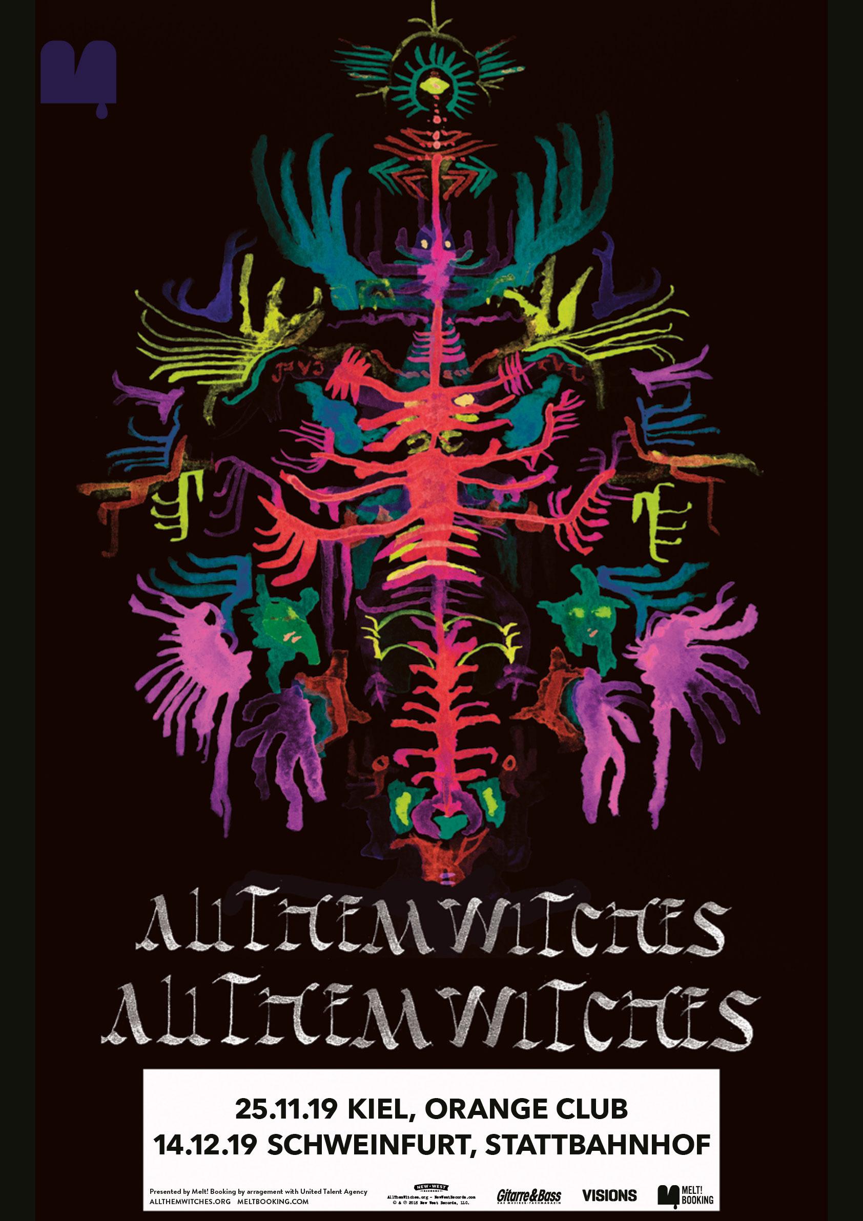 Tourplakat All Them Witches Tour 2019