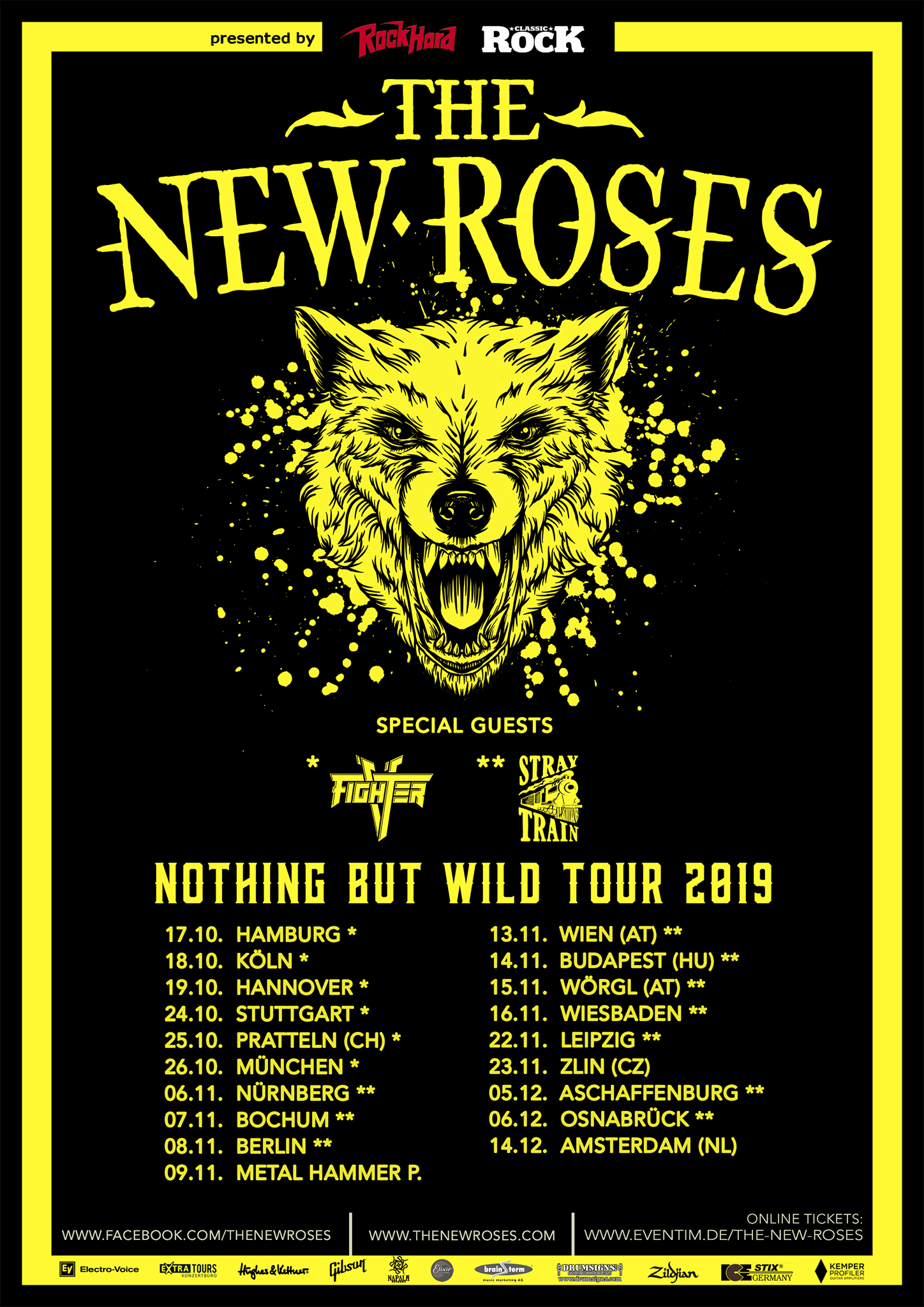 The New Roses - Nothing But Wild Tour 2019
