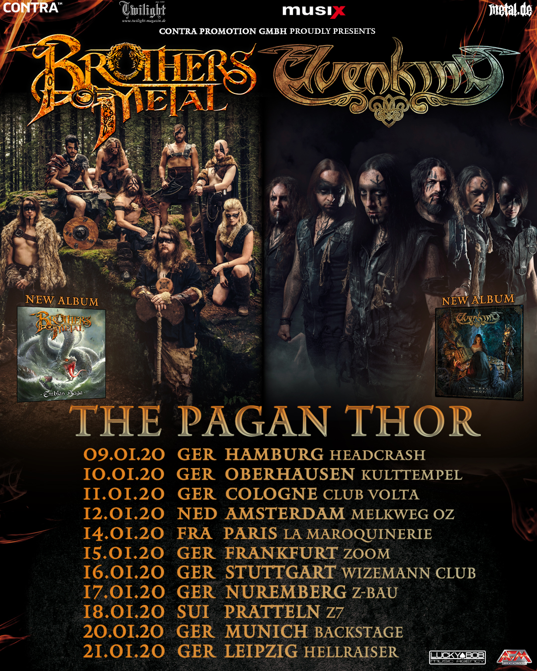 Brothers Of Metal und Elvenking The Pagan Thor