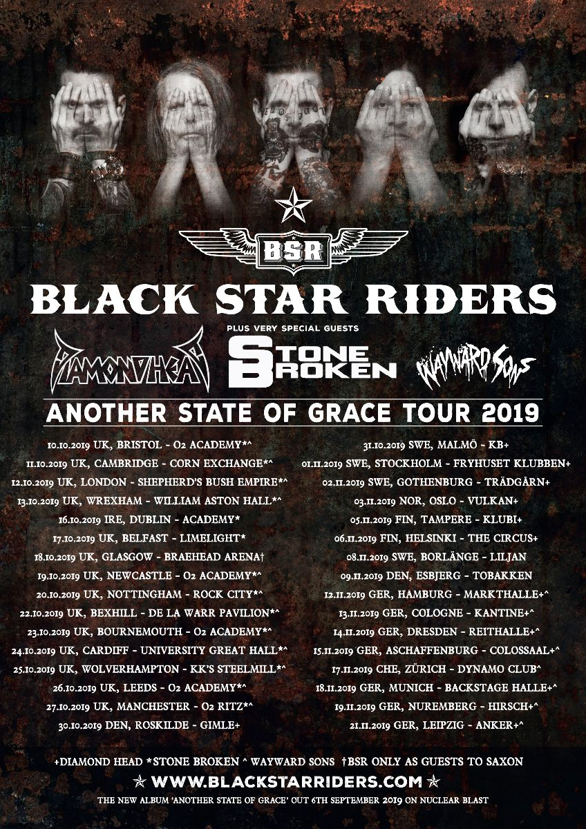 Black Star Riders - Another State Of Grace Tour 2019