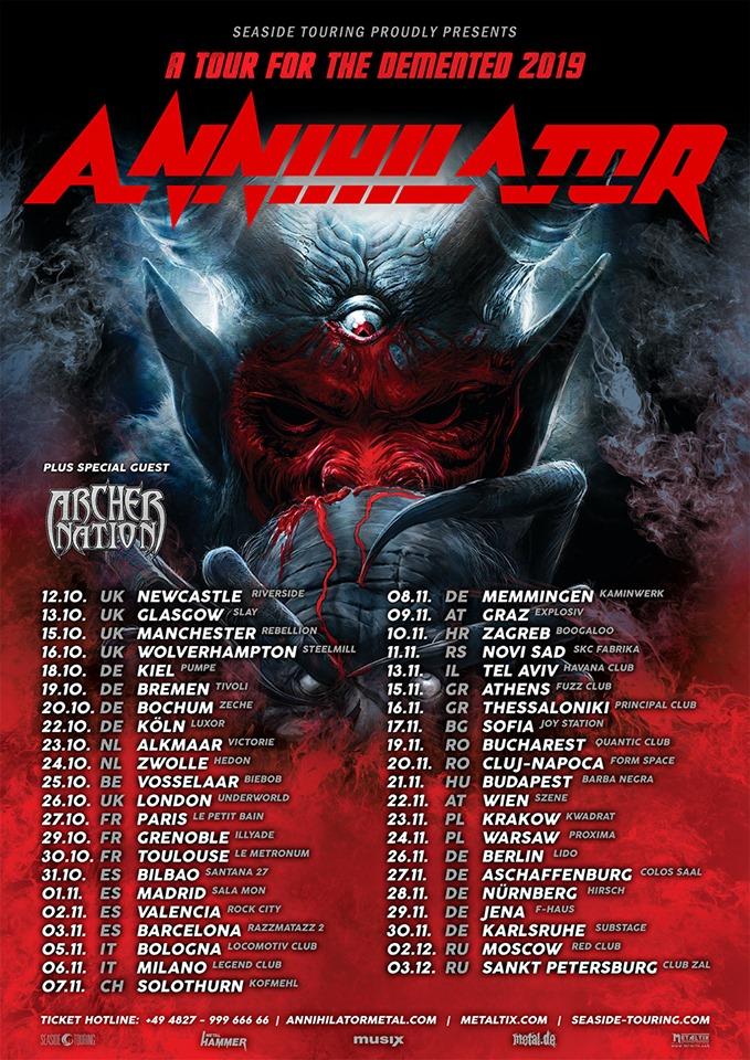 Bild: Annihilator Tour 2019
