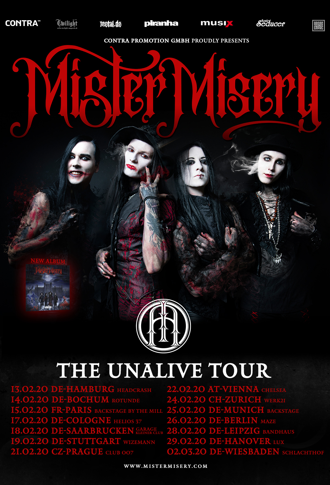 Mister Misery The Unalive Tour