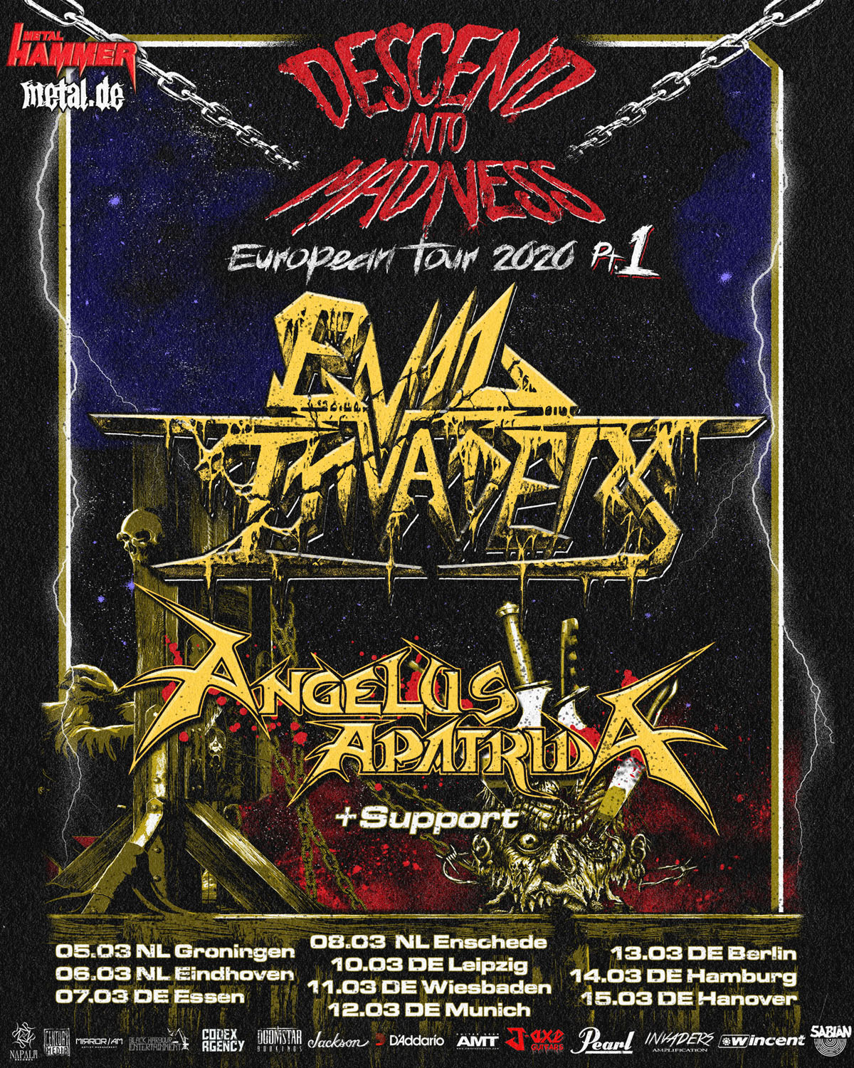 Evil Invaders Descend Into Madness Tour