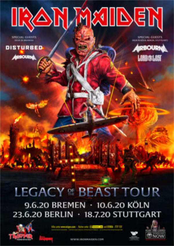 Iron Maiden Plakat Legacy Of the Beast Tour
