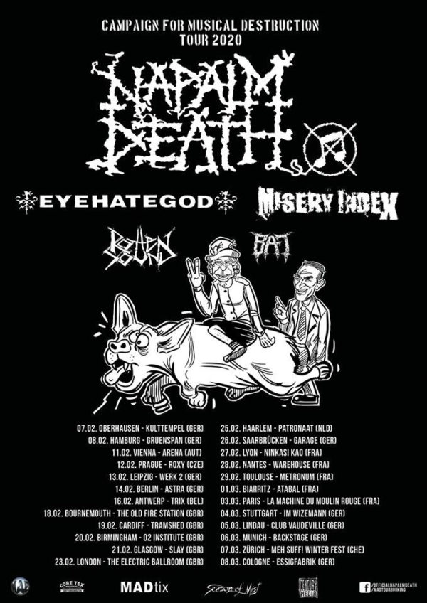 Napalm Death - Campaign For Musical Destruction Tour 2020