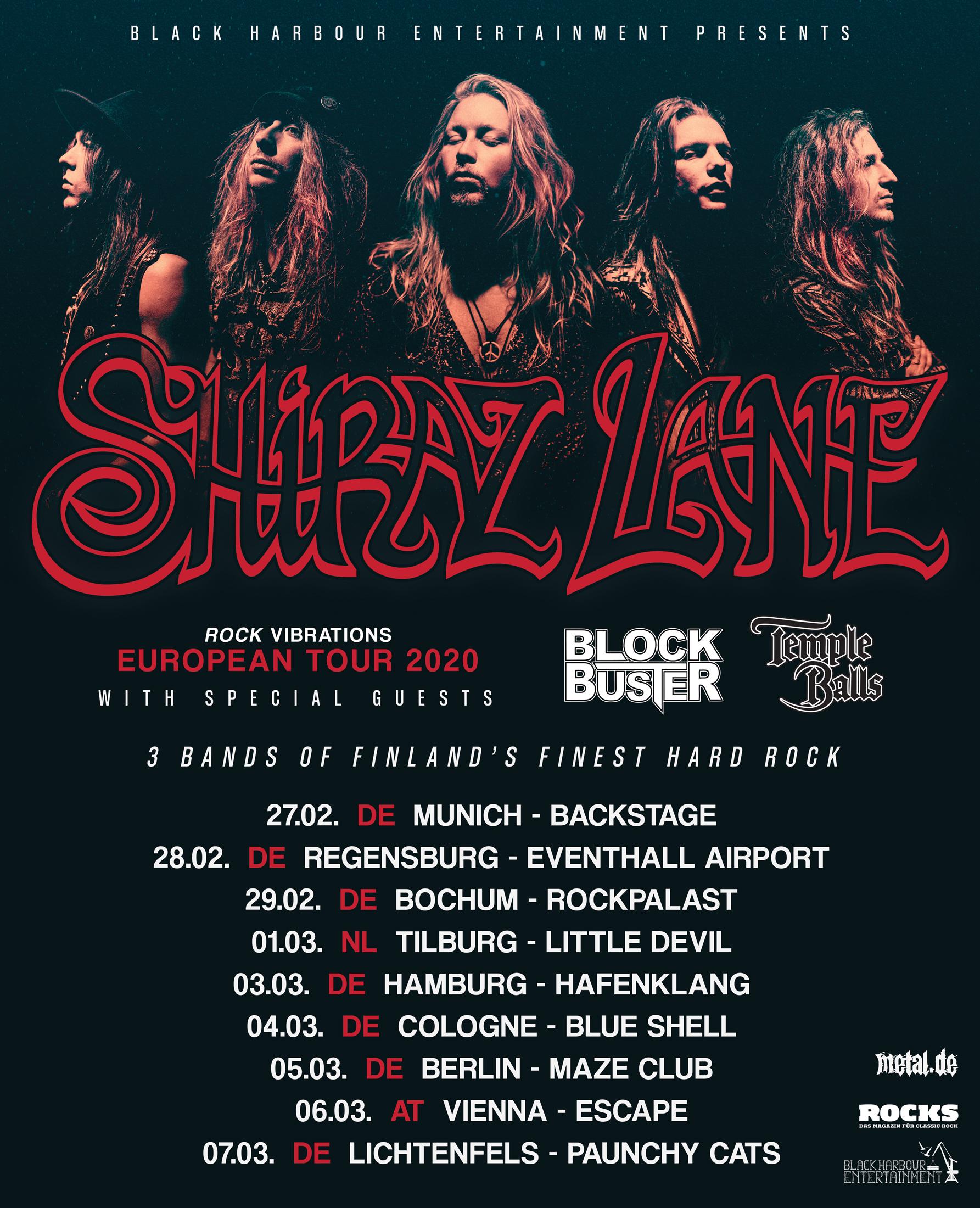 """Shiraz Lane """"Rock Vibrations Tour 2020"""""""
