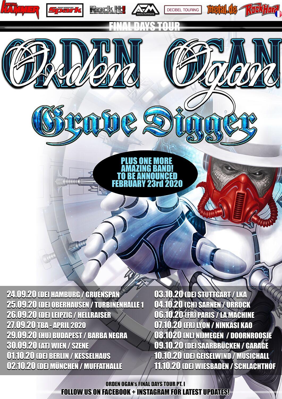 Orden Ogan - Final Days Tour 2020