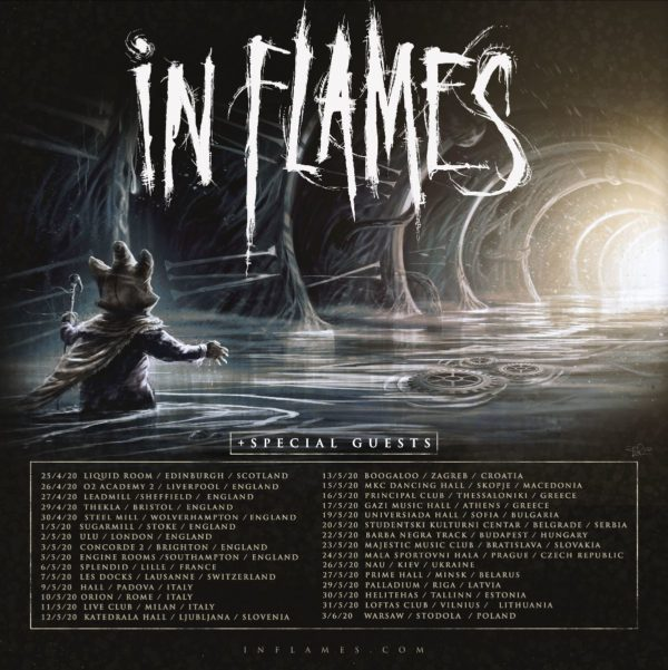 In Flames - Europatour 2020